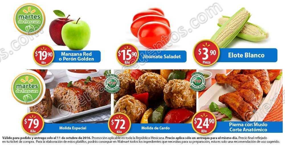 Frutas y Verduras en Martes de Frescura Walmart 11 de Octubre 2016