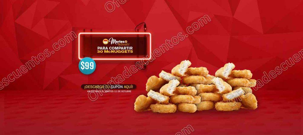McDonald's: Cupones del Martes 11 de Octubre
