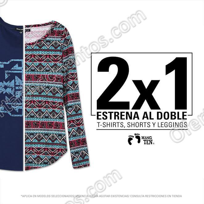 Hang Ten: 2×1 en ropa para Dama T-Shirts, Shorts y Leggins