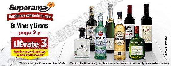 Promociones El Buen Fin 2016 Superama 3×2 en Vinos y Licores