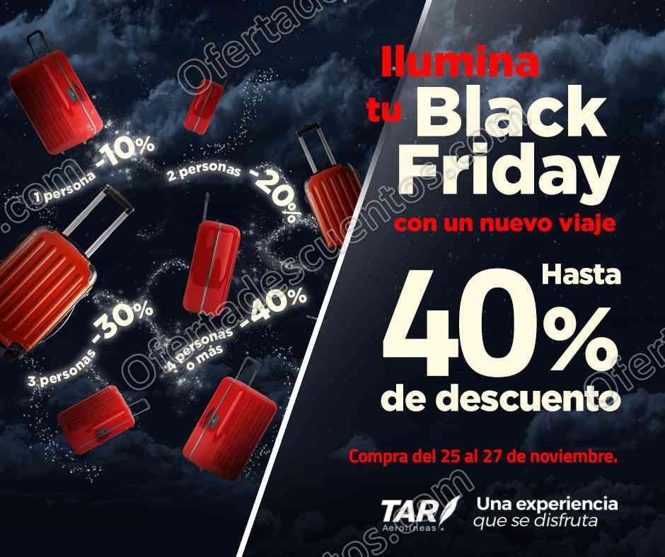 Black Friday TAR Aerolíneas: Hasta 40% de descuento en vuelos del 25 al 27 de Noviembre