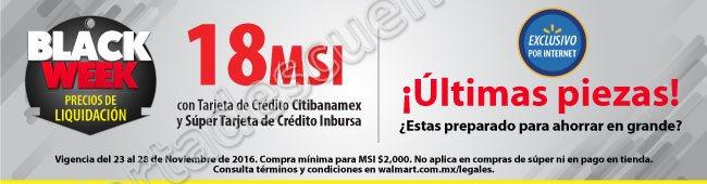Walmart: Black Week productos a precio de liquidación del 23 al 28 de Noviembre