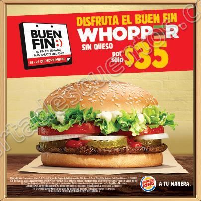 Promociones Buen Fin 2016 en Burger King