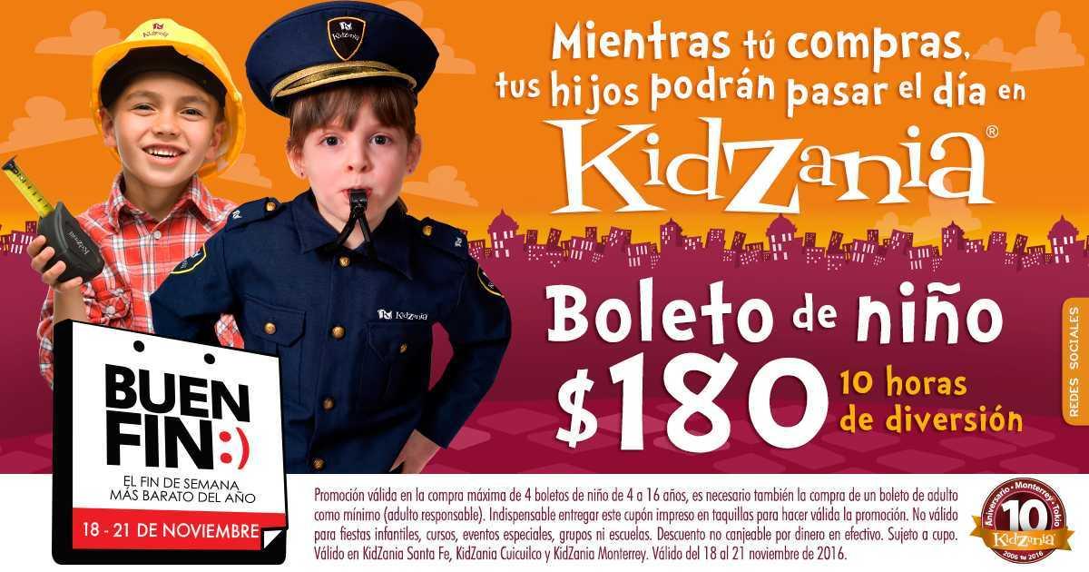 Promoción El Buen Fin 2016 en KidZania