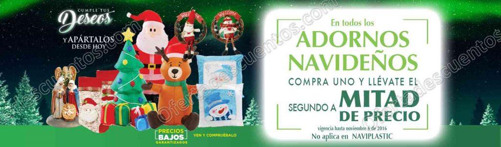 Comercial Mexicana: 2×1 y medio en todos los adornos navideños al 6 de Noviembre
