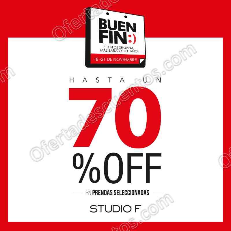 Promociones El Buen Fin 2016 en Studio F: Hasta 70% de descuento en prendas seleccionadas