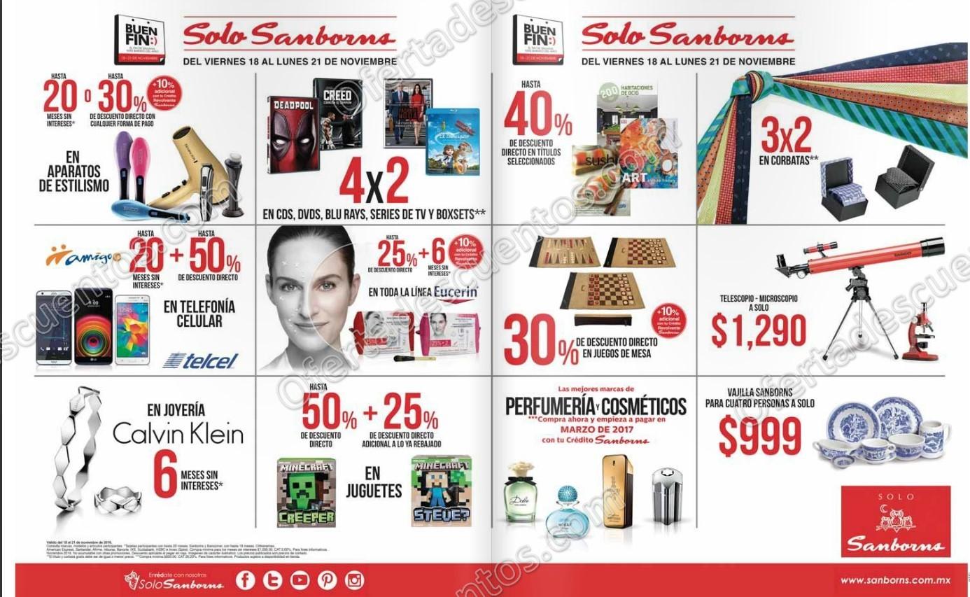 Folleto de Promociones del Buen Fin 2016 en Sanborns