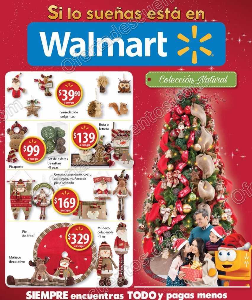Walmart folleto de promociones del 3 al 21 de noviembre for Adornos de navidad walmart 2017