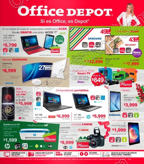 Office depot folleto de promociones del 1 al 30 de for Home depot productos