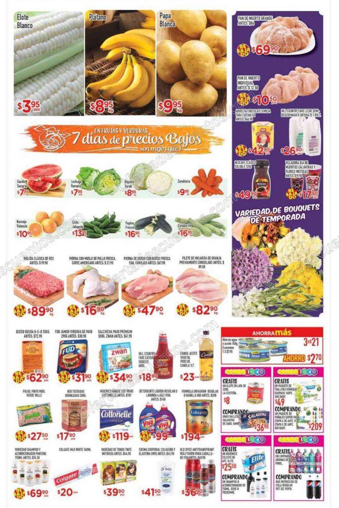 HEB: Tres Días de Frutas y Verduras del 1 al 3 de Noviembre