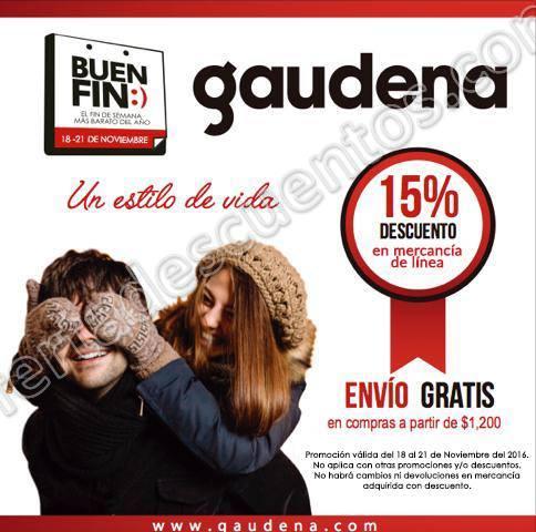 Promoción Buen Fin 2016 en Gaudena