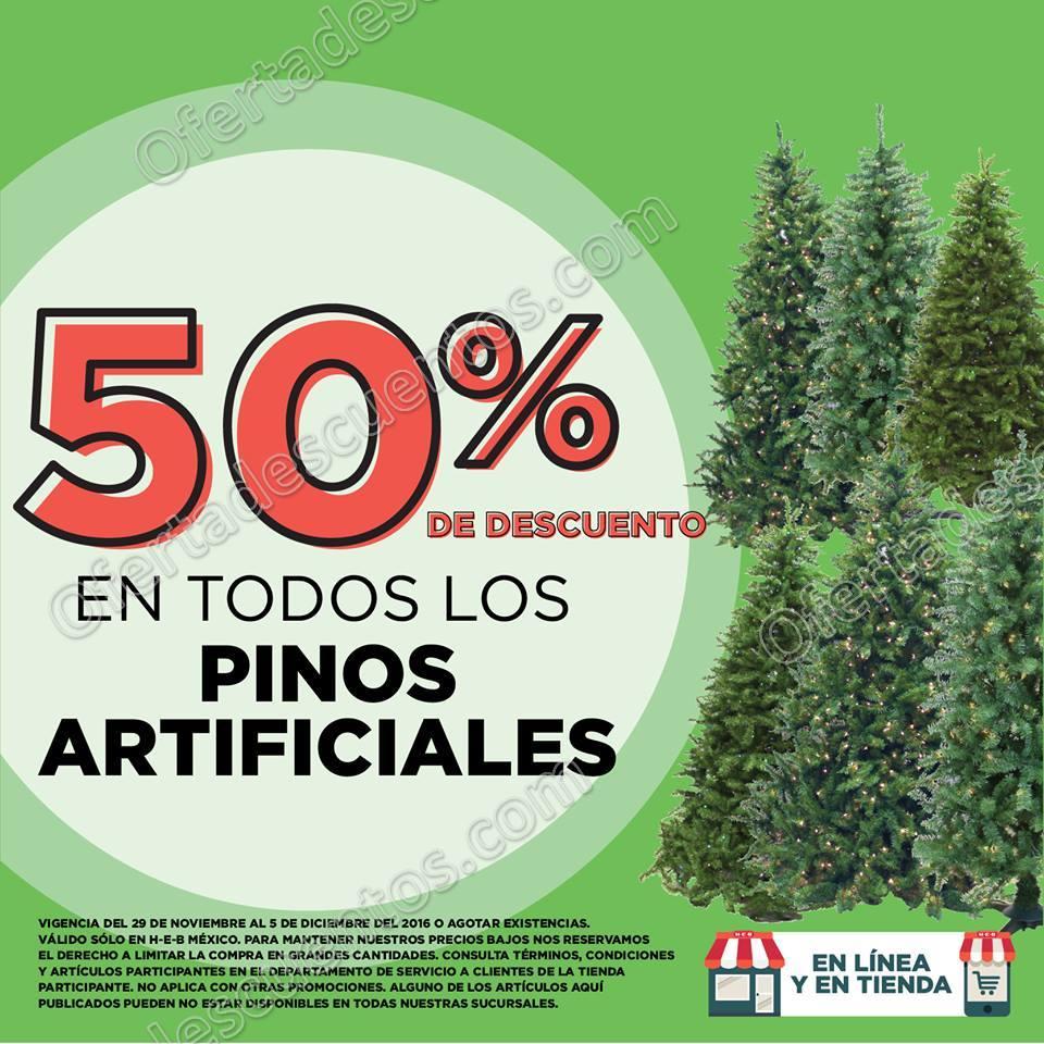 HEB: 50% de Descuento en Todos los Pinos Artificiales