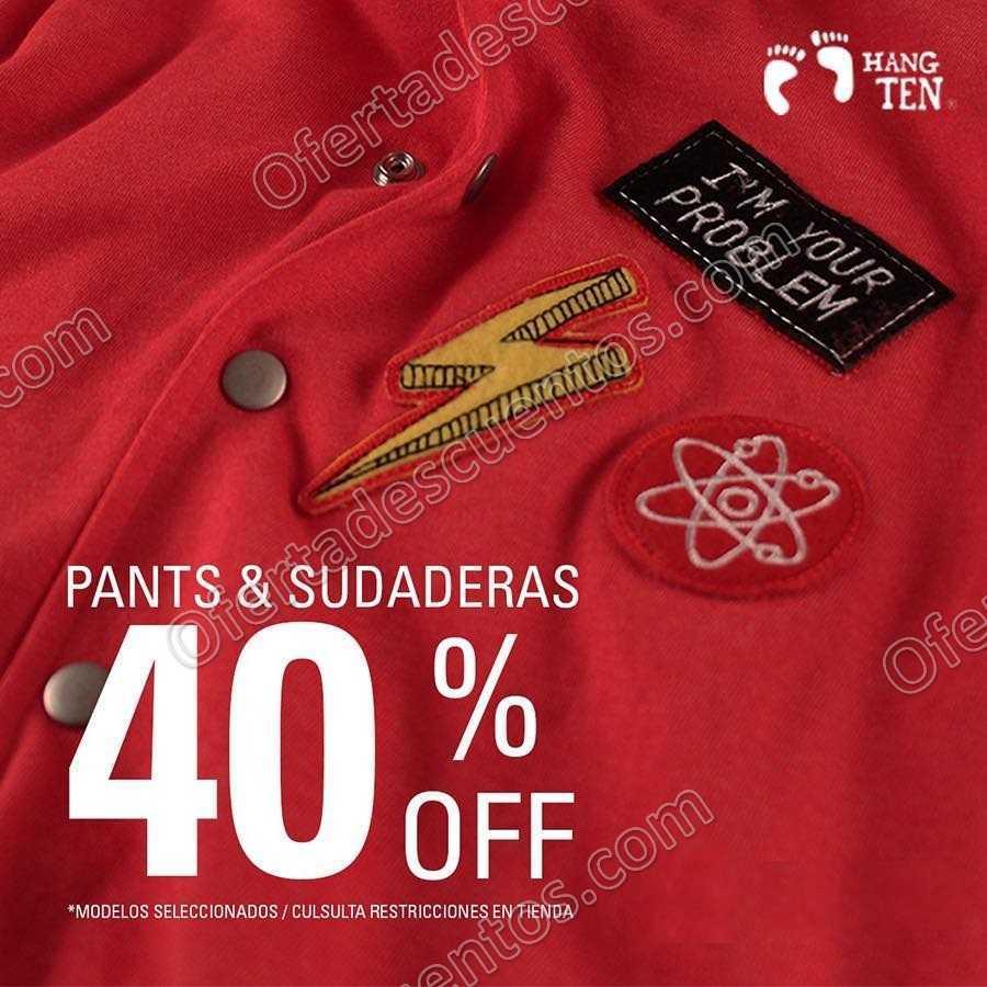 Hang Ten: 40% de descuento en Pants y Sudaderas al 30 de Noviembre