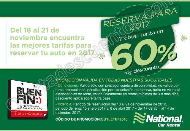 Buen Fin 2016 National Car Rental Hasta 60% de Descuento