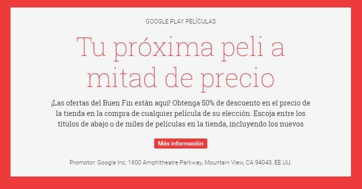 Promociones Buen Fin 2016 en Google Play
