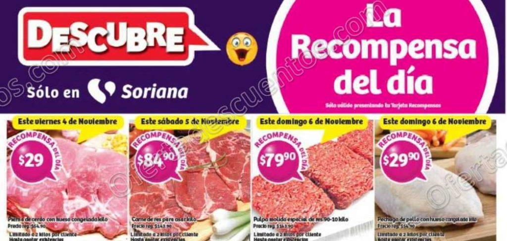Soriana: Promociones Tarjeta Recompensa o Lealtad del 4 al 7 de Noviembre