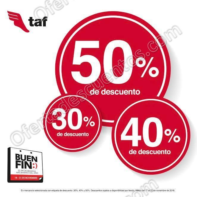TAF Promociones Buen Fin 2016: Hasta 50% de descuento en Tenis