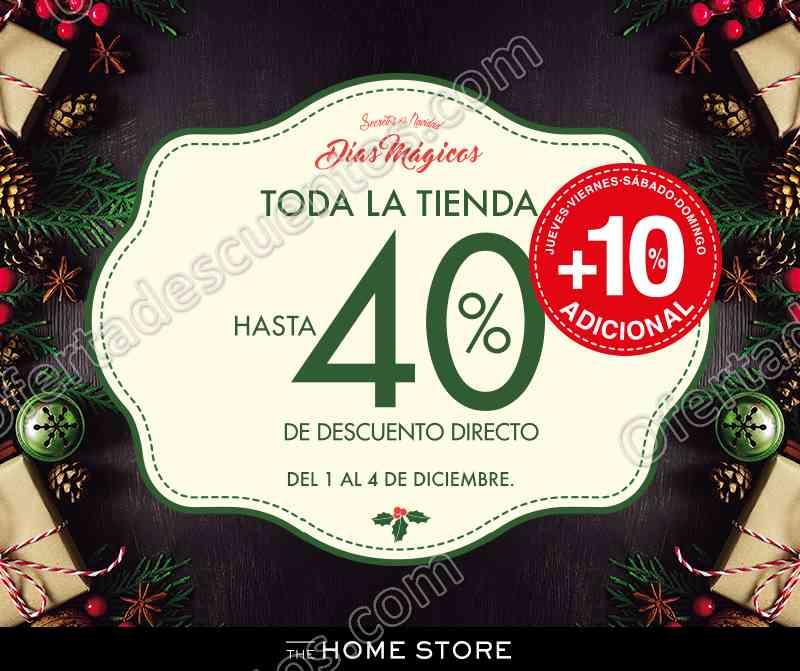 The Home Store: Días Mágicos hasta 40% de descuento en toda la tienda del 1 al 4 de Diciembre