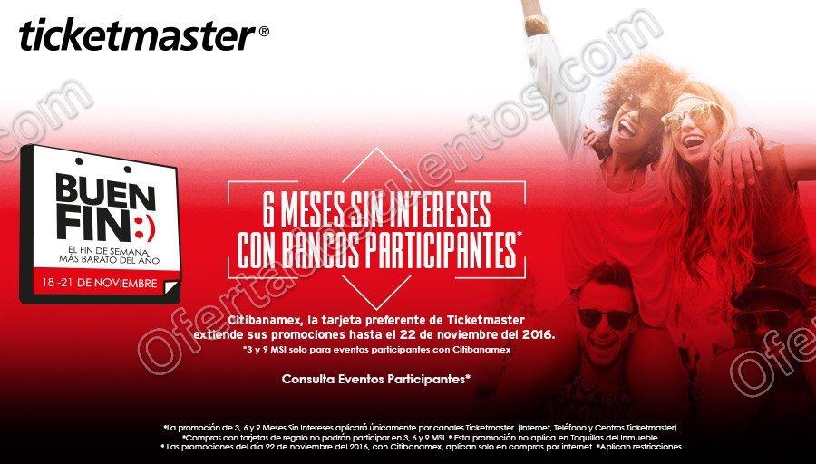 Promoción Buen Fin 2016 en Ticketmaster