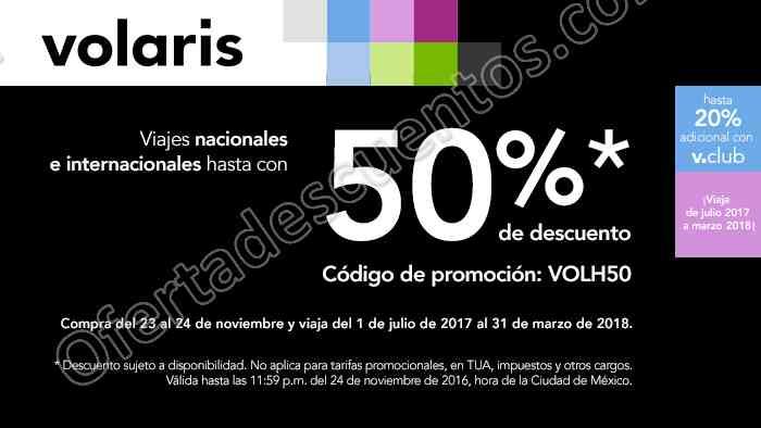 Volaris: Vuelos Nacionales e Internacionales con hasta 50% de descuento del 23 y 24 de Noviembre