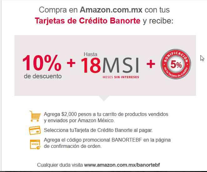 Buen Fin 2016 en Amazon 10% Adicional con Banorte