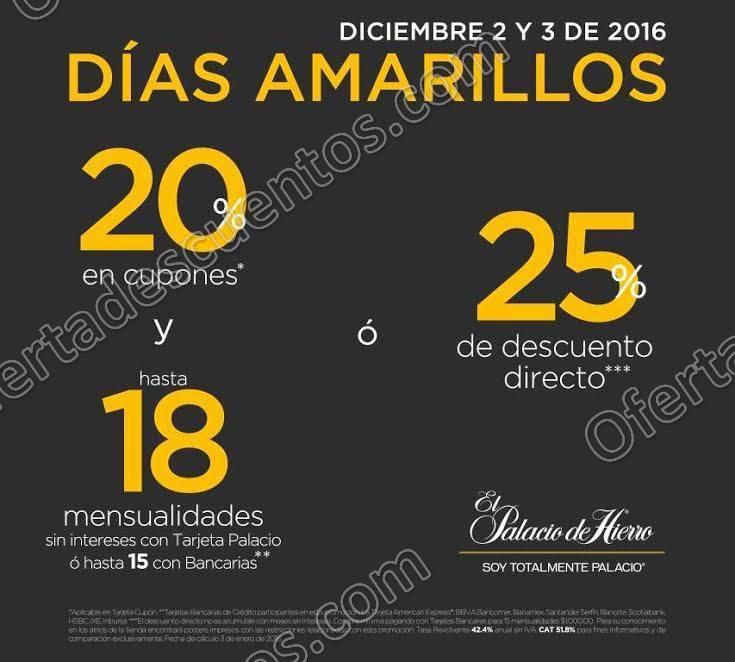 Palacio de Hierro: Días Amarillos 2 y 3 de Diciembre 2016