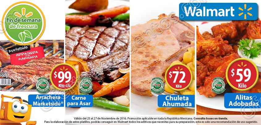 Walmart: Ofertas en el Fin de Semana de Frescura del 25 al 27 de Noviembre