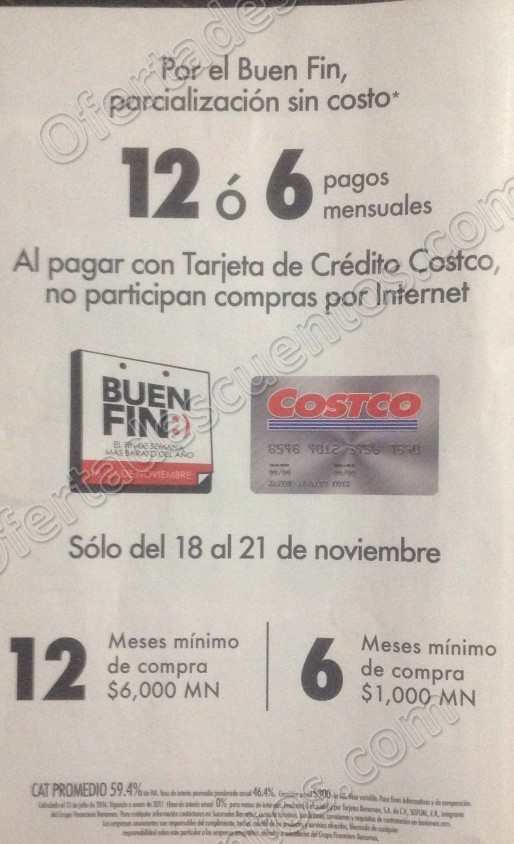Folleto de Promociones Buen Fin 2016 Costco