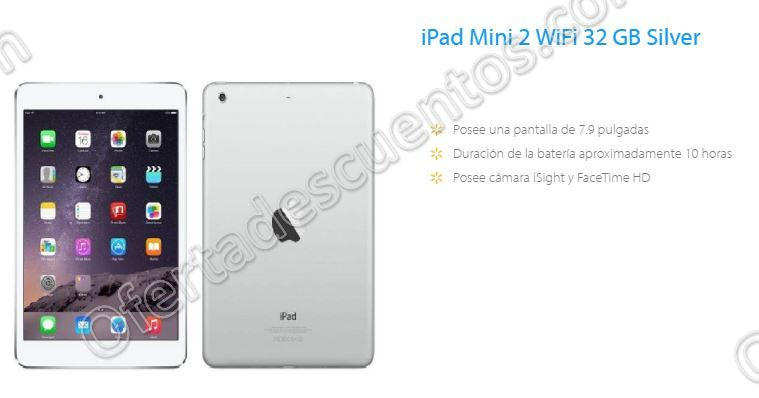 Buen Fin 2016 en Walmart: iPad mini 2 32GB color plata a $3,999