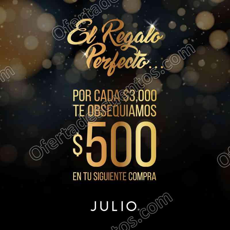 Julio: $500 de Regalo Para Siguiente Compra