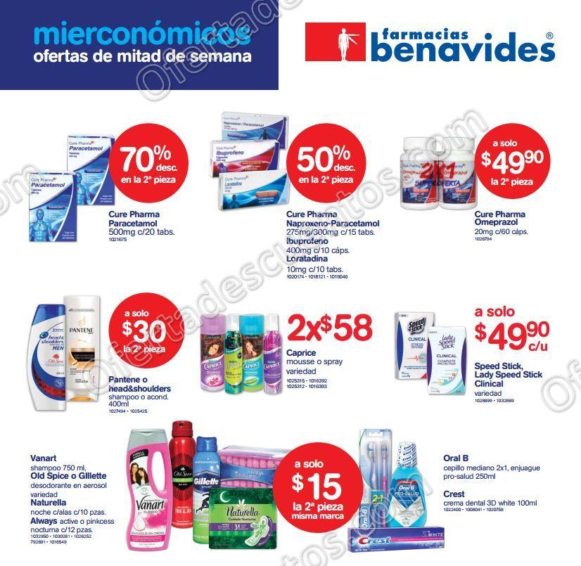 Ofertas del Mierconómicos en Farmacias Benavides 9 de Noviembre