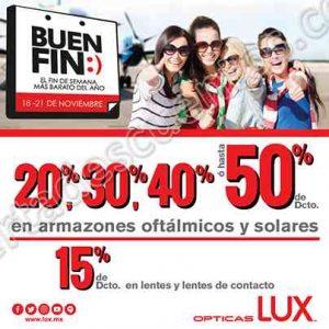 Promociones del Buen Fin 2016 en Ópticas Lux, Devlyn y OptiMart