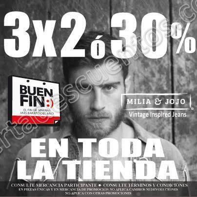 Promociones Buen Fin 2016 en Milia y Jojo, Comfort Jeans y Jean Pierre