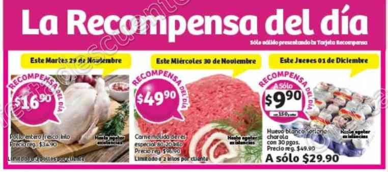 Soriana: Promociones Tarjeta Recompensa Lealtad del 29 de Noviembre al 1 de Diciembre