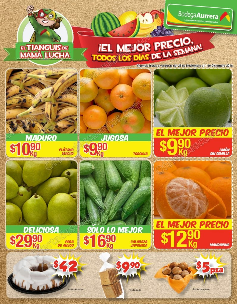 Folleto de frutas y verduras bodega aurrer tianguis de - Folleto mandarina home ...