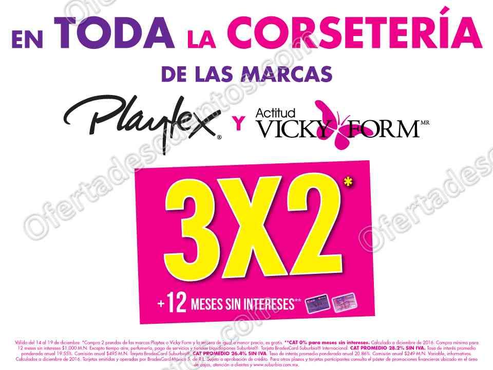 Suburbia: 3×2 en Playtex y Vicky Form