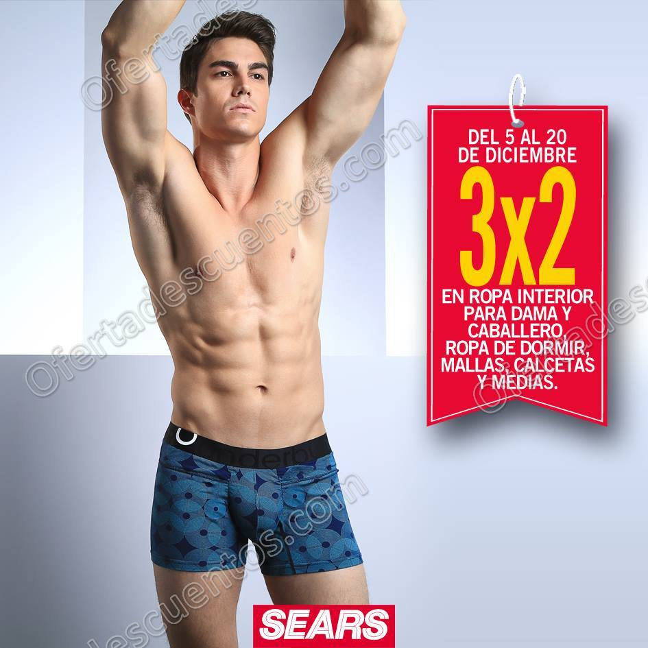 Sears 3 2 en ropa interior para dama y caballero ropa de for Ropa interior caballero