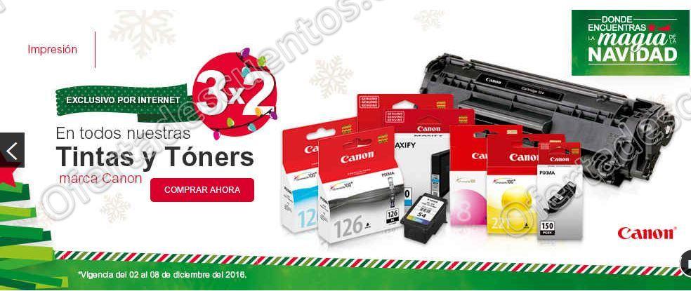 Office Depot: 3×2 en todas las tintas y tóners marca Canon sólo por internet Jueves 8 de Diciembre