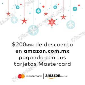 Amazon: Cupón $200 de descuento con Tarjetas Mastercard sólo 20 de Diciembre