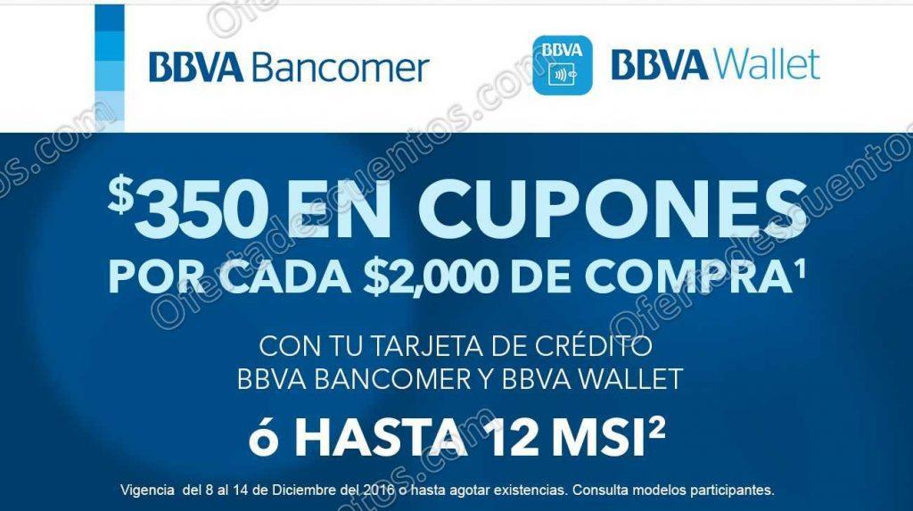 Best Buy: $350 en Cupones por cada $2,000 de compra con BBVA Bancomer