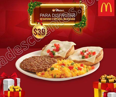 McDonald's: Cupón del Martes 20 de Diciembre Desayuno Especial Mexicano a $39
