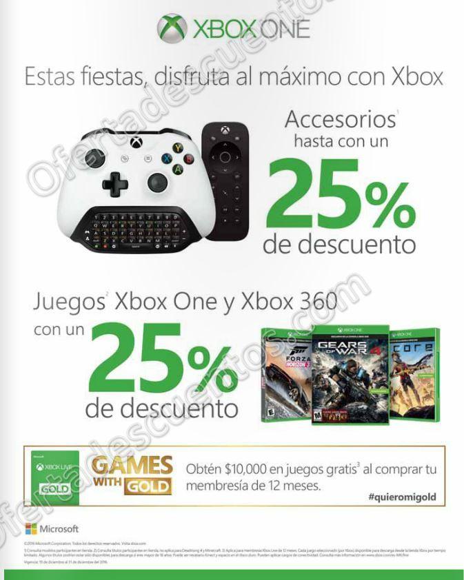 Xbox Live: 25% de descuento en videojuegos y más del 19 al 31 de Diciembre