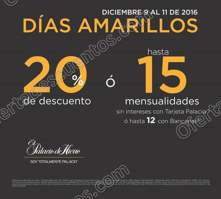 El Palacio de Hierro: Días Amarillos del 9 al 11 de Diciembre 2016