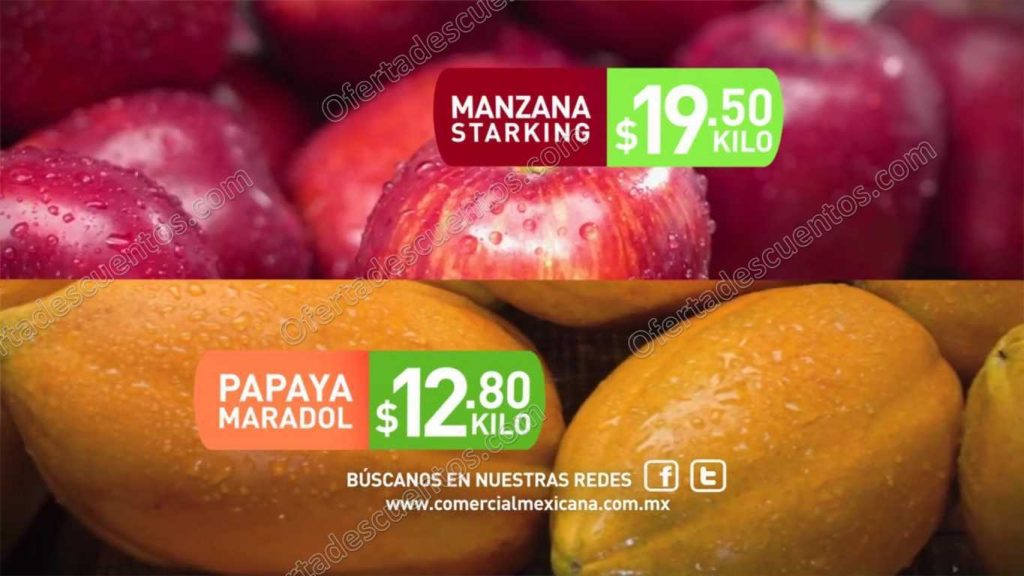 """Comercial Mexicana: Ofertas en Frutas y Verduras """"Hoy es Miércoles"""" 7 de Diciembre"""