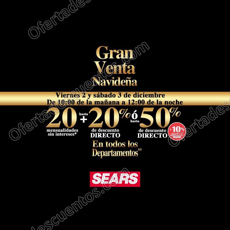 Sears: Venta Nocturna Navideña 2 y 3 de Diciembre 2016