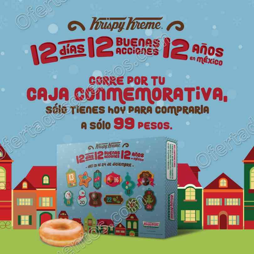 Krispy Kreme: Docena de Glaseada Original más caja conmemorativa a $99