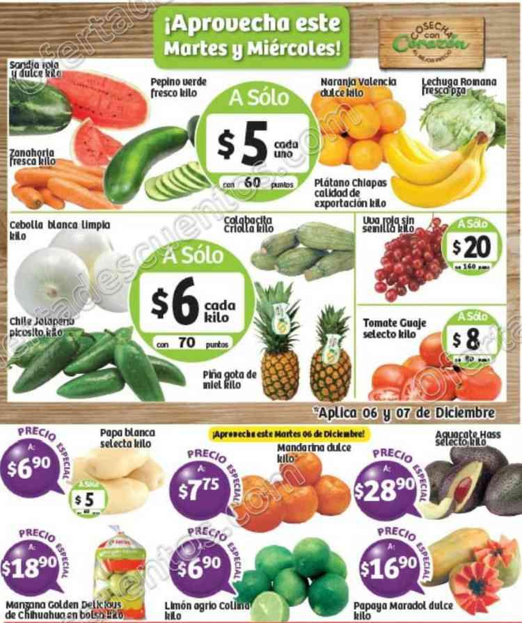 Frutas y Verduras Soriana 6 y 7 de Diciembre