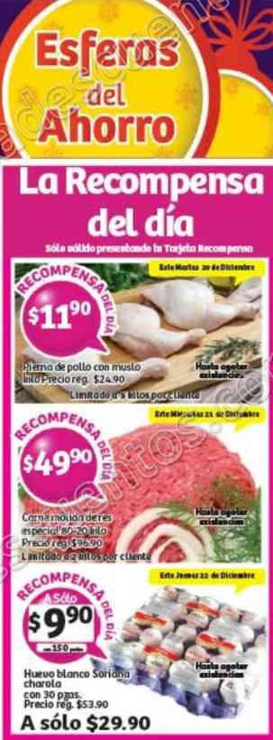 Soriana: Promociones Tarjeta Recompensas del 20 al 22 de Diciembre