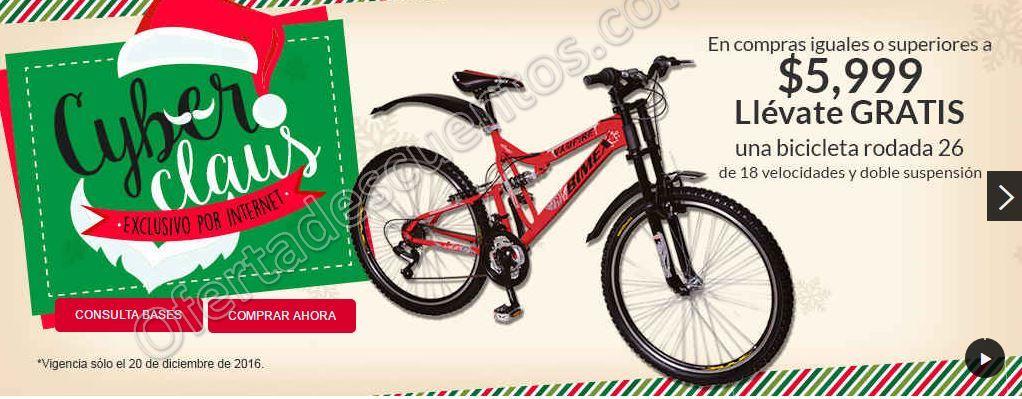 Office Depot: Cyber Claus Martes 20 de Diciembre llévate Bicicleta Gratis en compras de $5,999 o más