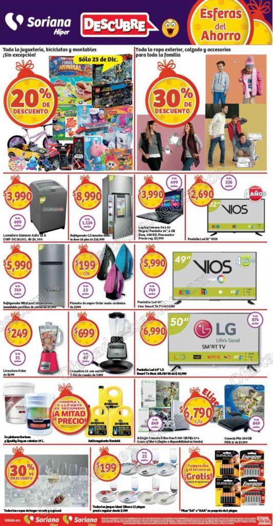 Soriana: Promociones de fin de semana del 23 al 26 de Diciembre